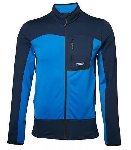 North Bend NEVIS Zip-Shirt He. Fleecejacke